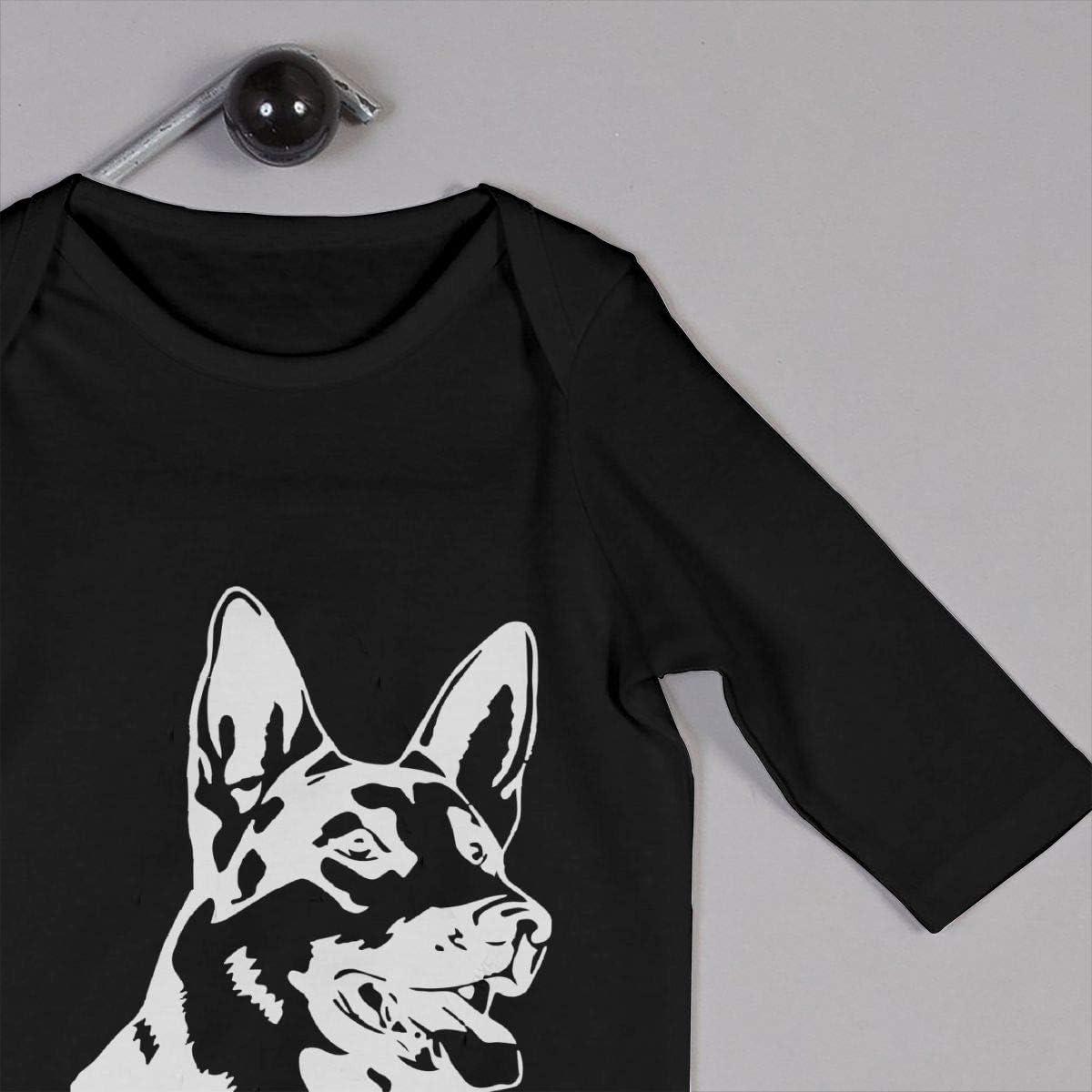 Hot German Shepherd Dog Organic One-Piece Kid Pajamas Clothes Baby Boys Romper Jumpsuit