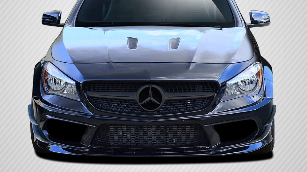 Carbon Creations Replacement for 2014-2015 Mercedes CLA Class Black Series Look Wide Body Front Bumper Accessories - 6 Piece by Carbon Creations (Image #1)