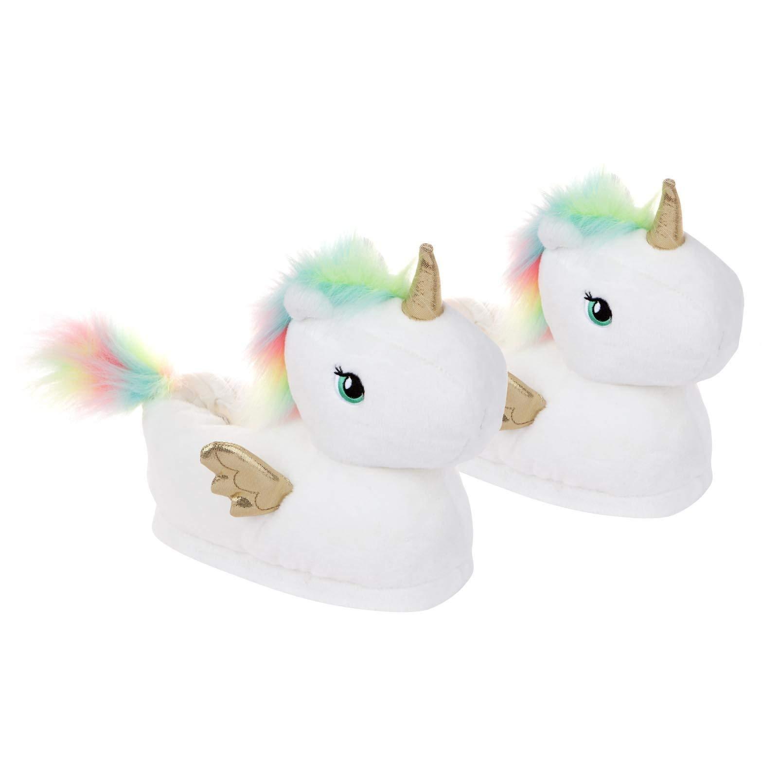 SunnyLIFE Kid's Unicorn Slippers, Medium White