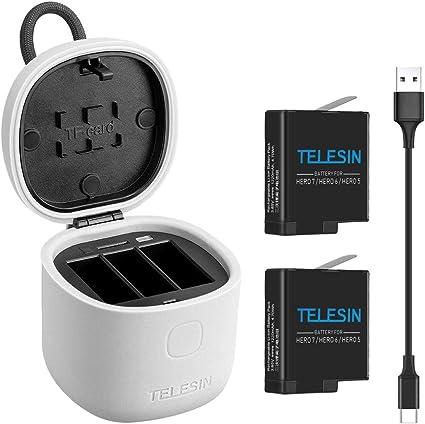 Amazon.com: TELESIN - Cargador para GoPro, GoPro ...