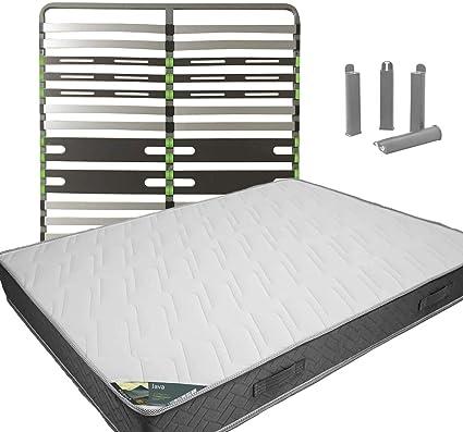 Java – Pack colchón + AltoZone 120 x 190 + Patas: Amazon.es ...