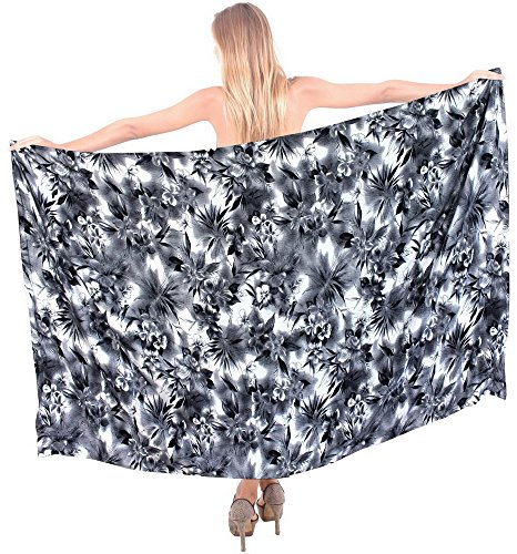 Floral Beach Vintage Swimwear Swimsuit Bikni Women Cover up Sarong Skirt Black Valentines Day Gifts 2017