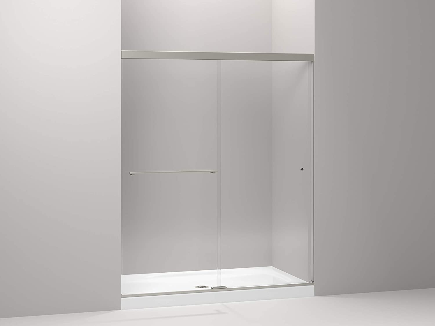 Kohler 707206 L Bnk Revel Shower Door Crystal Clear Glass With Anodized Brushed Nickel Frame Amazon Com
