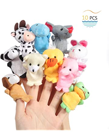 Twister.CK Finger Puppets, Baby Story Time Props, 10 Piezas Animal Style Soft