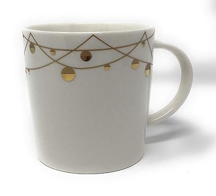 0cb05b712a8 Amazon.com: Starbucks New Bone China Holiday Christmas Gold ...