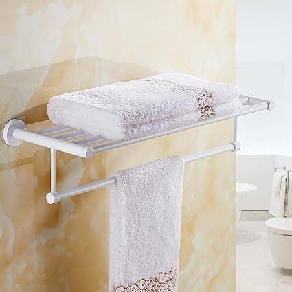 Cuarto de baño Toallero doble de acero inoxidable Cuarto de baño del hotel  Montaje en la c66d65319d15