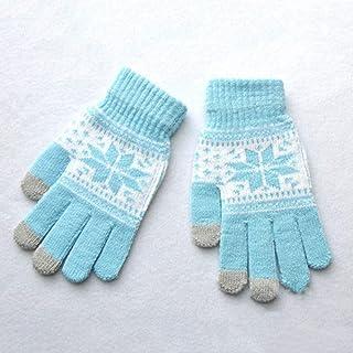 TianMi GuanteHombre/Mujer Guantes De Tejido Elástico Nueva Muñeca Dedo Completo Unisex Guantes Mitones Cálido Invierno La Nieve De La Pantalla Táctil