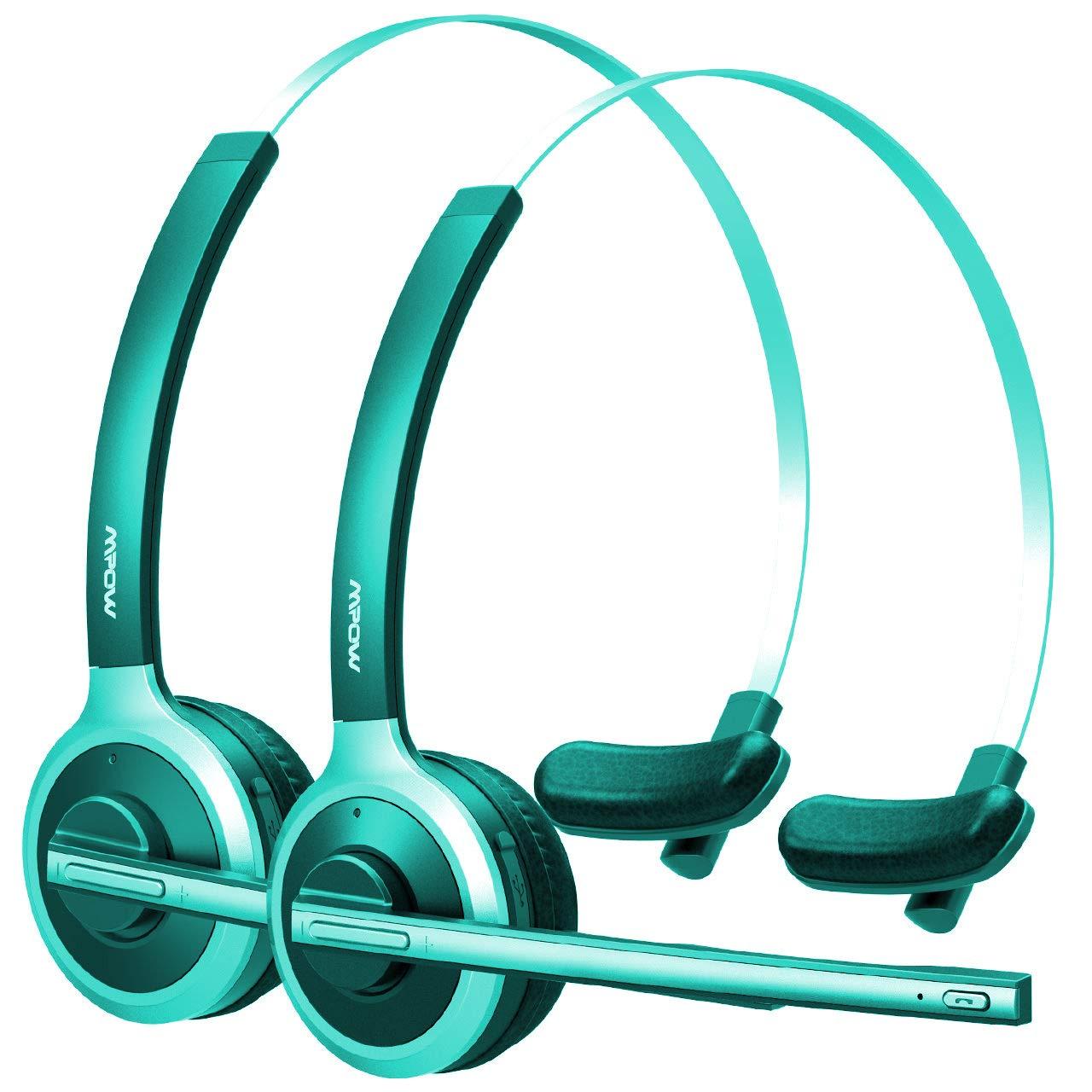 Mpow [ Pro - 2 ] v4 . 1 Bluetooth Officeヘッドセット/Truck Driverヘッドセット、ワイヤレスover headイヤホンwithマイクノイズリダクションの再生の電話、Skype、コールセンター(サポートメディア) グレイ B075FTM3C4