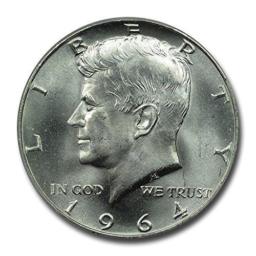 1964 Half Dollar Coins - 1964 90% Silver Kennedy Half Dollar Brilliant Uncirculated