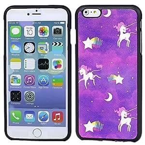 Rugged Matte UNICORN STAR MOON ART Apple iPhone 6 Plus 5.5 inchCase shockproof TPU Bumper Guard Case Cover Skin for iPhone 6 PLUS(5.5-Inch)