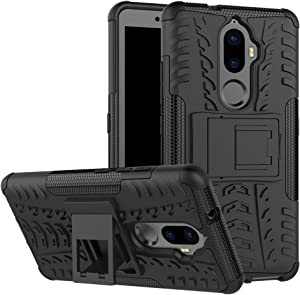 Lenovo A7010 Case, Awesome Armor Foldable Movie Stand Slim Cover, TAITOU New Ultra Hybrid 2 In 1 Thin Anti Scratch Drop Outdoor Sport Protect Phone Case For Lenovo A7010 Black