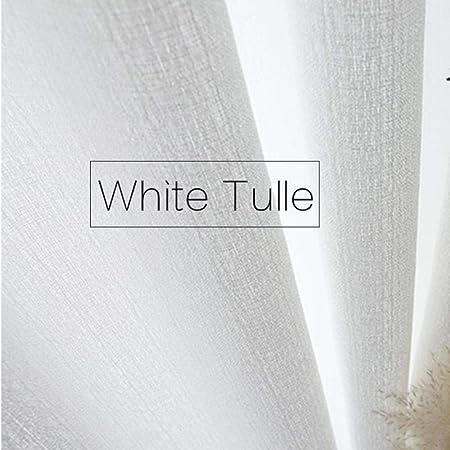 PENVEAT Cortina de Ventana Gruesa Blanca Pura Moderna Sala de ...