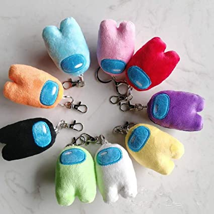 Among Us Keychain Doll Pendant Stuffed Figure Toys Soft Animal Kids Game Gift