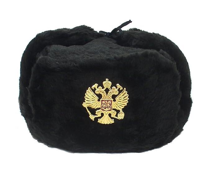 Hat Russian Soviet Imperial Eagle Black KGB  Fur Military Cossack ... f6713212765