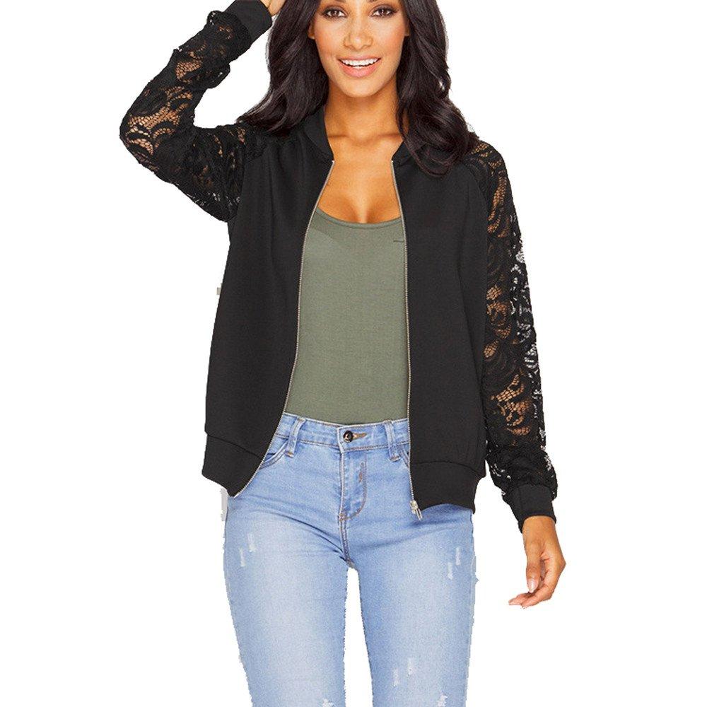 Lmx+3f Womens Casual Jacket Coat Long Sleeve Lace Splice Blazer Suit Outwear Loose Soft Comfy Coats Black