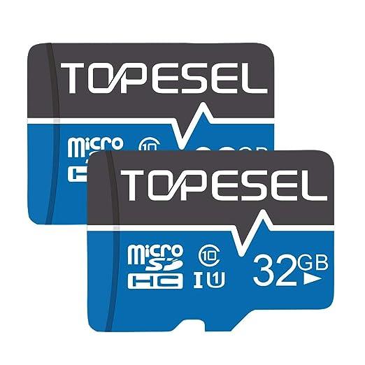 Tarjeta Micro SD 32GB, TOPESEL Tarjeta Memoria Alta Velocidad 85 MB/s SDHC Mini Tarjeta TF para Móvil, Tablet, Cámara, Tarjeta microSD 32GB (Class 10, ...