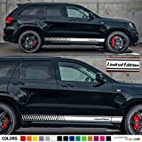 Set of Sport Side Stripes Decal Sticker Vinyl Compatible with Jeep Grand Cherokee WK2 SRT8 Pentastar Hemi