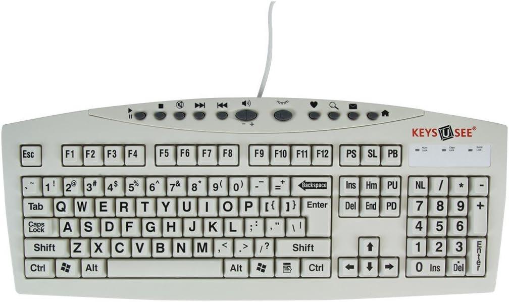 Keys-U-See Large Print USB Computer Keyboard