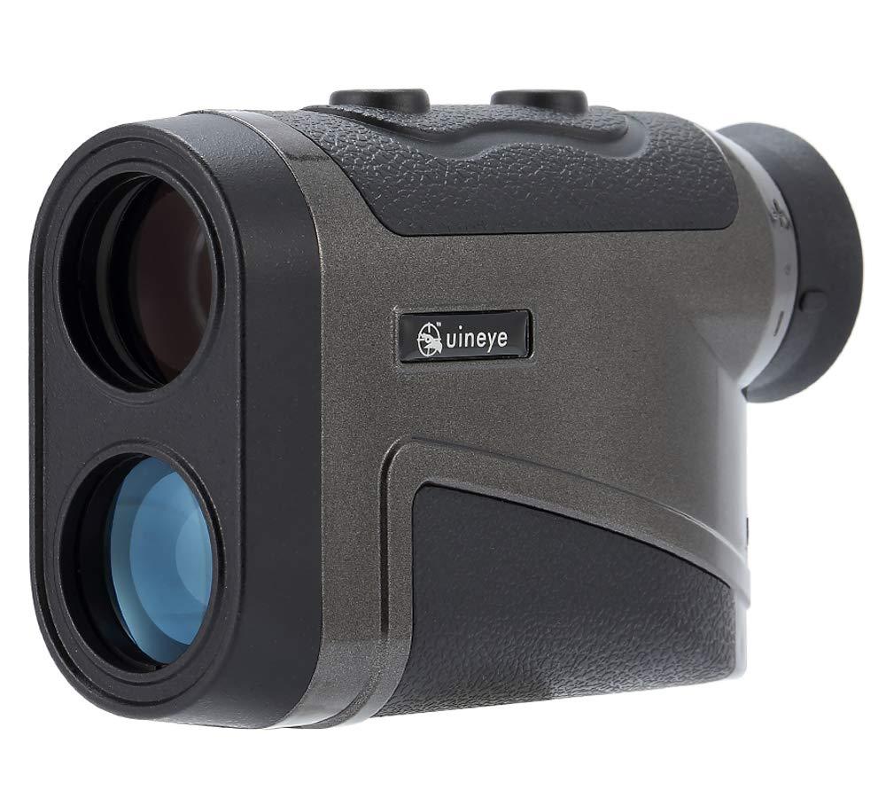 Uineye Golf Rangefinder - Range : 5-1800 Meters, 0.3 Meter Accuracy, Laser Rangefinder with Height, Angle, Horizontal Distance Measurement Perfect for Hunting, Golf, Engineering Survey (1950YD Black)