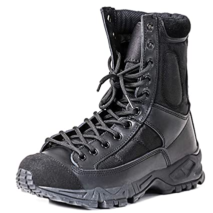 0648454c6ba79 Men's Lace Up Combat Boots Army Military Tactical Boot Special Forces Shoes