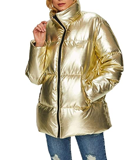 7e45499eb2ec2f Tommy Hilfiger Women s Icons Down Puffer Jacket S Gold  Amazon.co.uk   Clothing