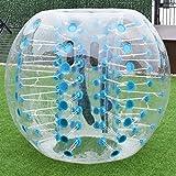 MD Group Inflatable Bumper Ball 1.5M Dia. 5' PVC Lightweight Sky Blue Transparent Outdoor