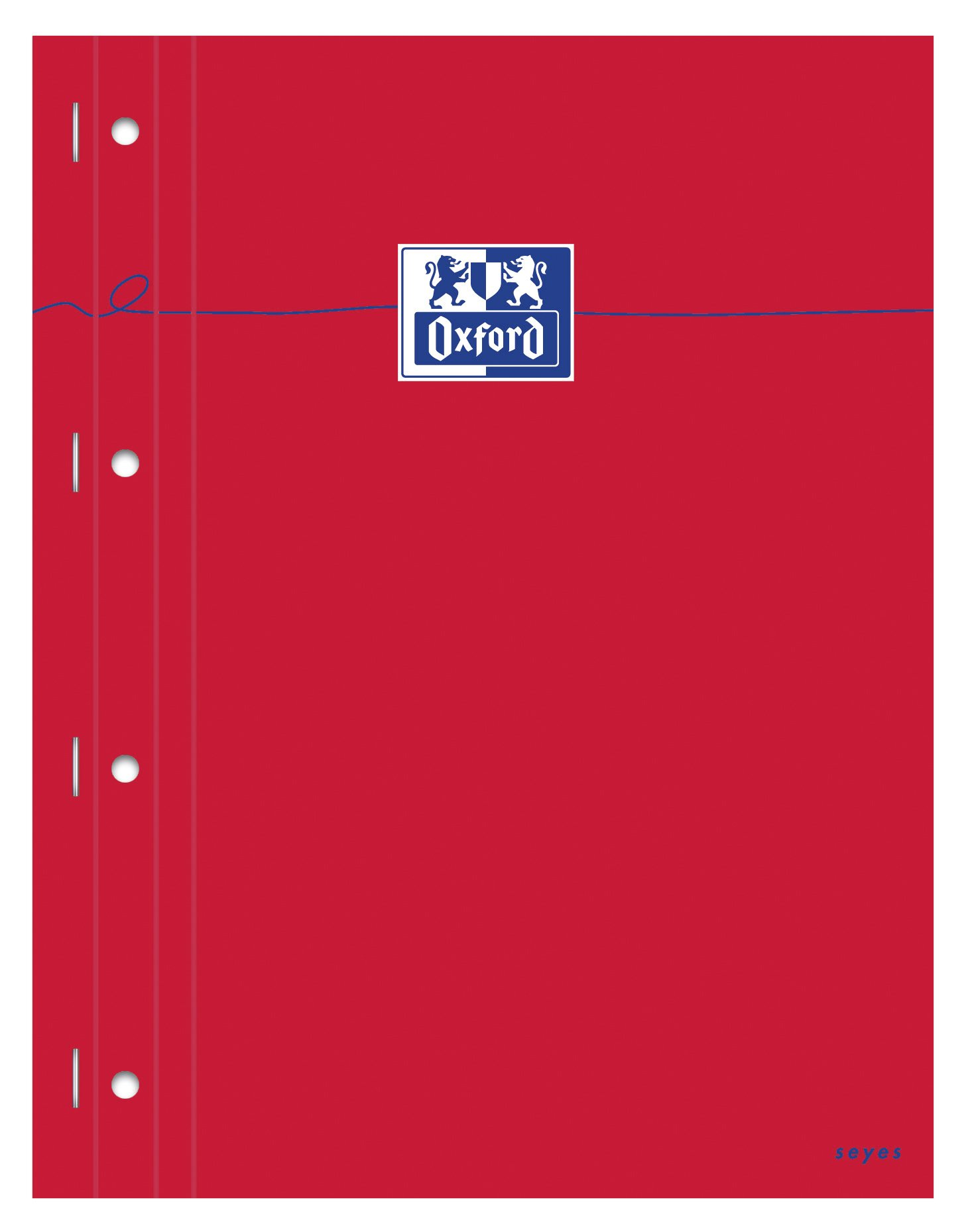 Pack of 5 Oxford Notepads Squared 160 Pages Seyès-Ruled A4 Red