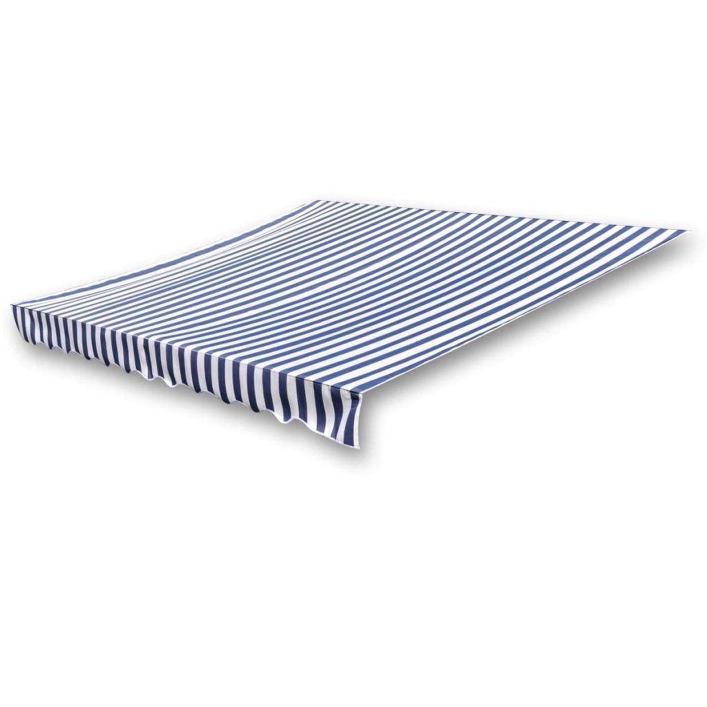 vidaXL Awning Top Canvas Blue&White 9' 10''x8' 2'' Sunshade Patio Garden Canopy