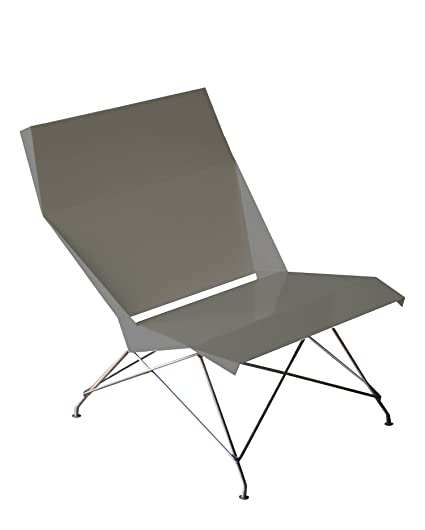 Markamoderna HSLD Bent Sheet Metal Lounge Chair, French Grey