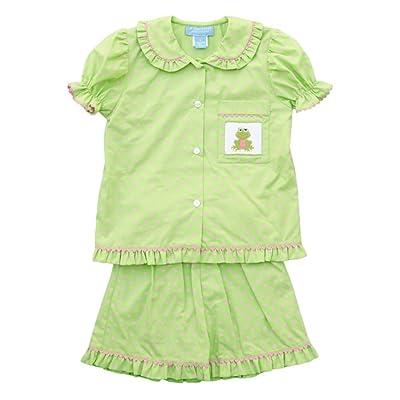 Anavini Girl's Pajama Froggy Short Set-8