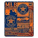 The Northwest Company MLB Houston Astros Printed Fleece Throw, One Size, Multicolor