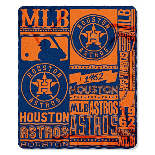 Houston Blanket - The Northwest Company MLB Houston Astros Printed Fleece Throw, One Size, Multicolor