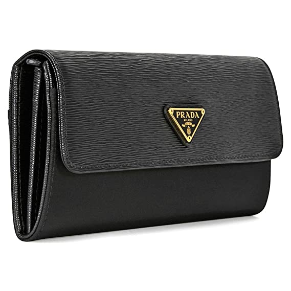 25279dd4ac0c Prada Saffiano Leather Envelope Wallet - Black: Amazon.ca: Watches