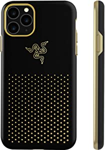 Razer Arctech Pro THS Edition for iPhone 11 Pro Case: Thermaphene & Venting Performance Cooling - Wireless Charging Compatible - Drop-Test Certified up to 10 ft - Black Gold