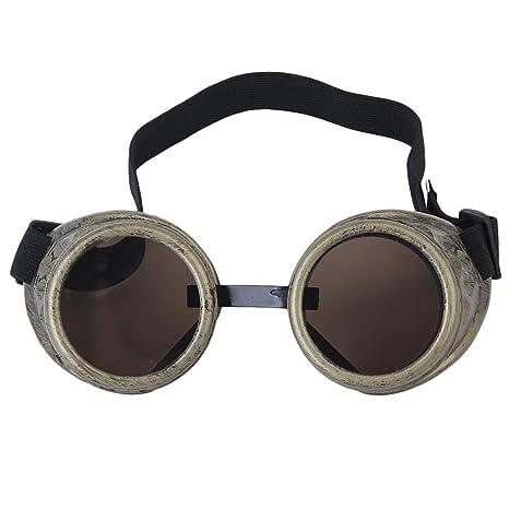 Rustica Ciber Gafas Protectoras Fotos Soldadura Gotico Cosplay Steampunk Bronce