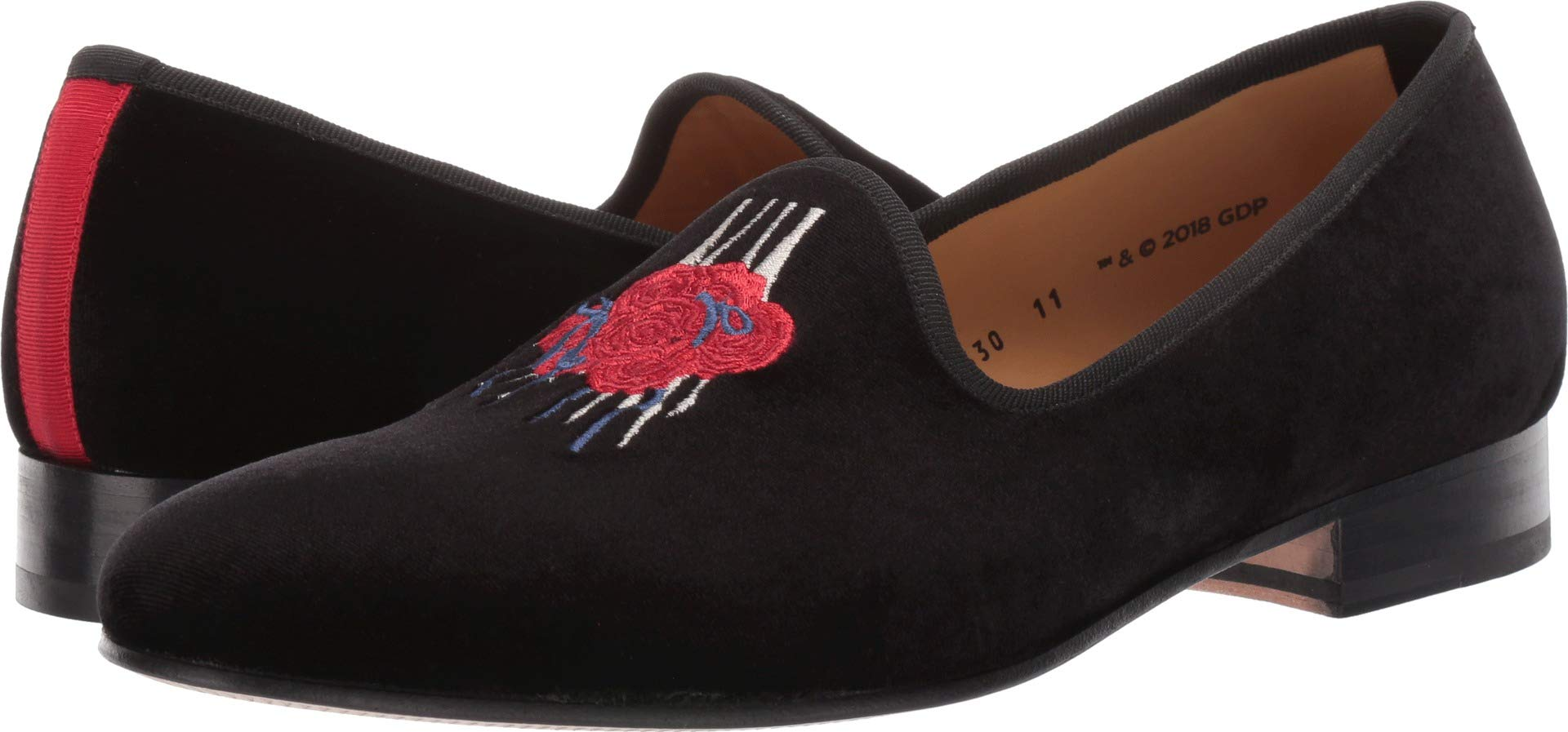 Del Toro Men's Wake Up to Find Out Slipper Black Velvet 9 M US