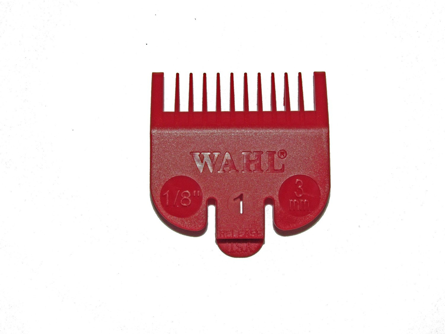 Wahl No.1 Attachment Comb 3mm (1/8) Cut Red - WAH31142001 by Wahl 3114-2001