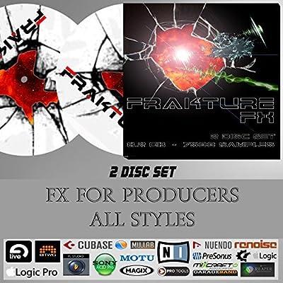 Frakture - FX Library - 8.2gb 2 Disc Set - WAV Sound Effects Library for Music Production. - Ableton Live, Fl Studio, Pro Tools, Logic Pro, Cubase, Nuendo, Bitwig, Cakewalk, Acid
