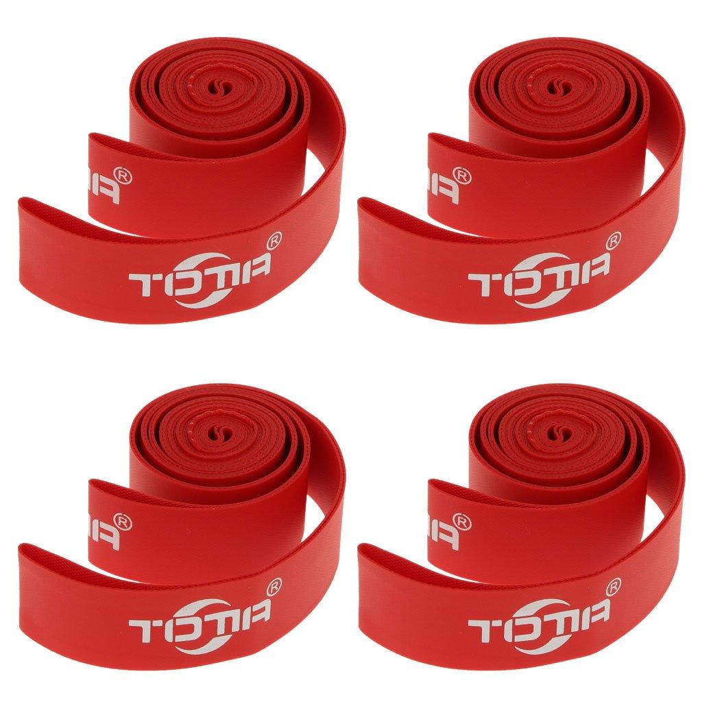 Sharplace 26インチ 自転車用 タイヤプロテクター タイヤライナー 4個 耐久性 赤色   B06Y35YY8X