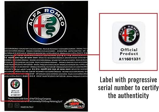 f/ür Alfa Romeo 159 147 156 166 GT Giulietta Mito Giulia Stelvio Auto Styling Carbon Faser Anti Kollisions Streifen Auto Abzeichen Embleme