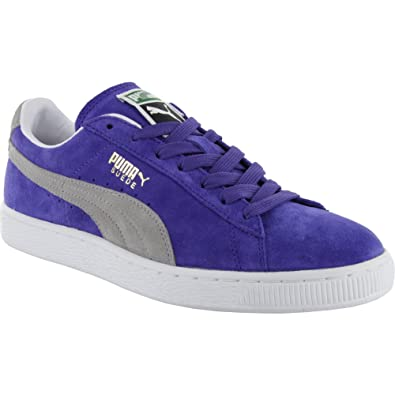 Puma Suede Classic Eco Skate Shoes - Liberty Blue Opal Grey  Amazon.co.uk   Shoes   Bags 31e65b320bb4