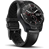 Ticwatch Pro Bluetooth Smart Watch, Layered Display, NFC Payment, Google Assistant, Android Wear, Compatible with iOS and Android (Phantom Black)