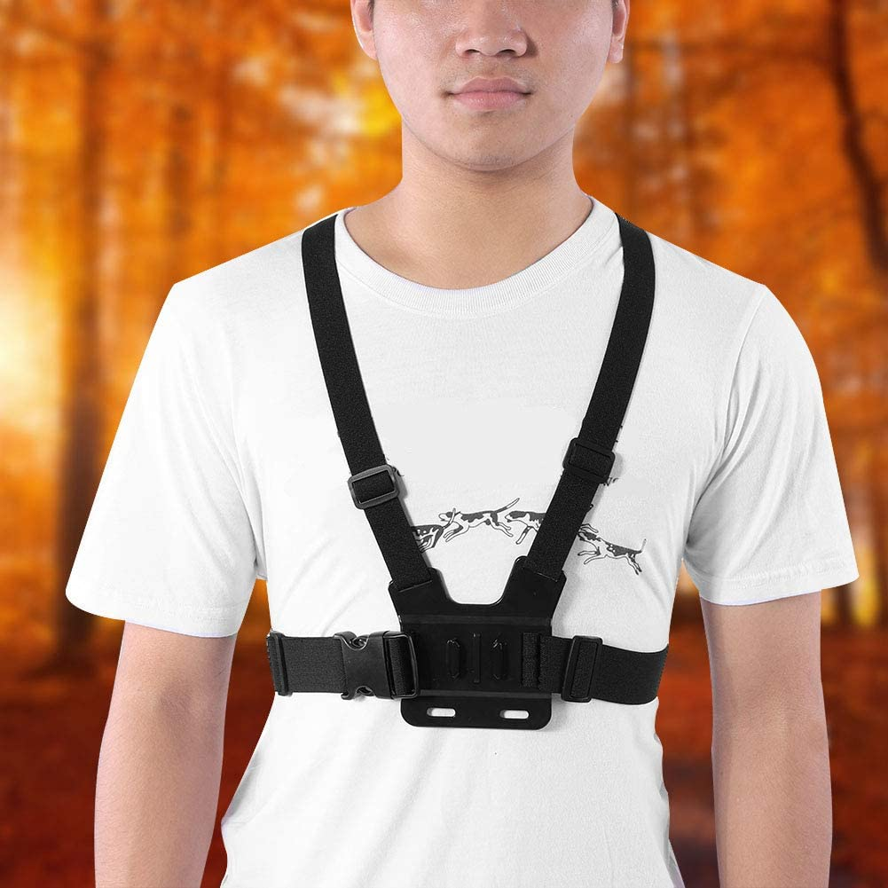 Mugast Action Camera Accessories Head Strap Chest Strap Mount with J-Hook Quick Release Buckle and Thumb Screw Compatible for Gopro Accessory for Outdoor Shooting.