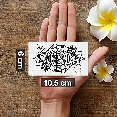 Oottati 2 Hojas Pequeño Lindo Tatuaje Temporal Tattoo Rey De ...