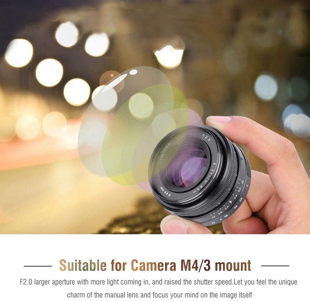 Large Aperture APS-C Prime Lens for Mirrorless Camera for EOS-M ...