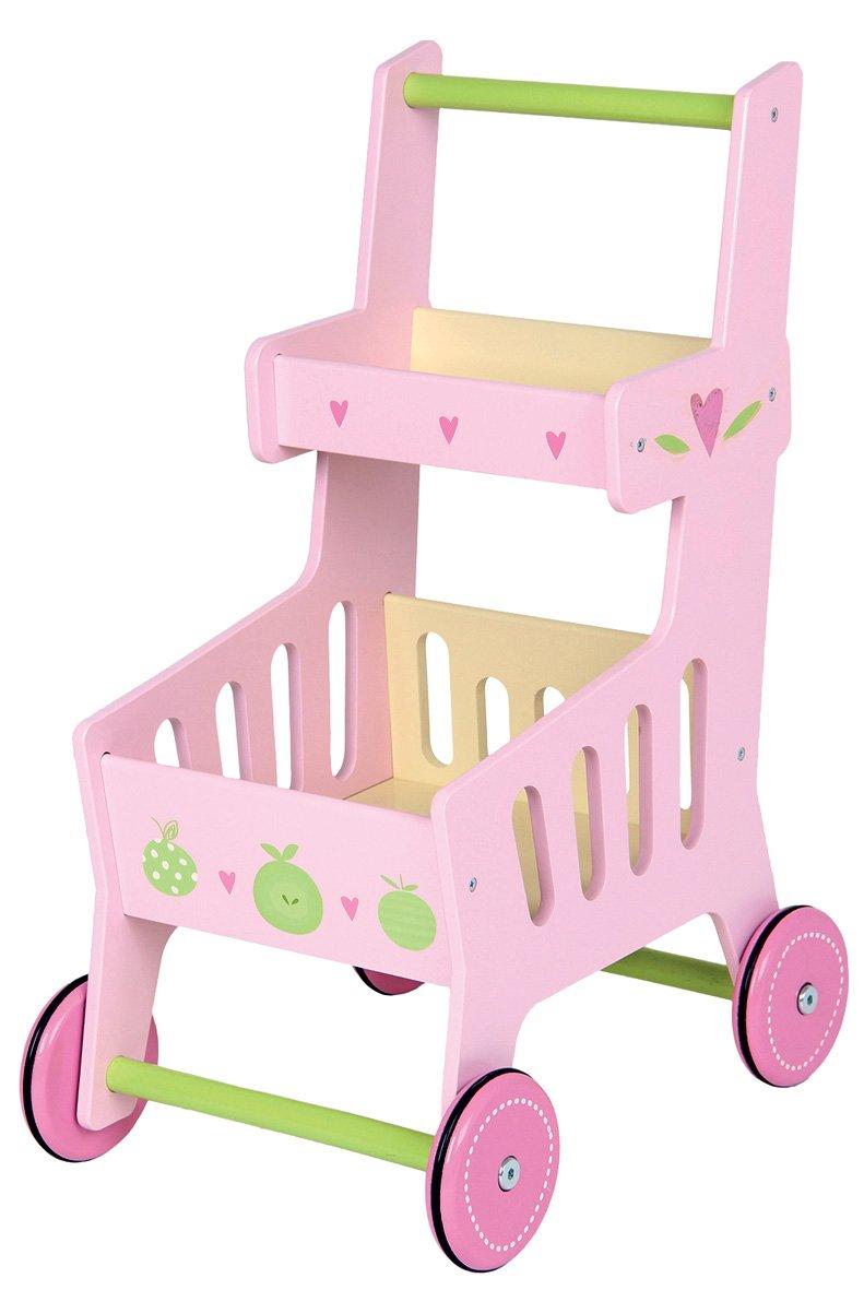 Kinder Einkaufswagen Holz - Mentari Holz-Einkaufswagen