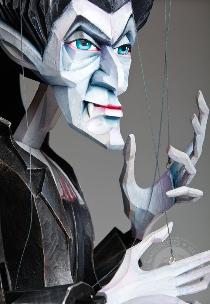 Vampire Barnabas January Czech Handmade Marionette Puppet by CzechMarionettes (Image #1)