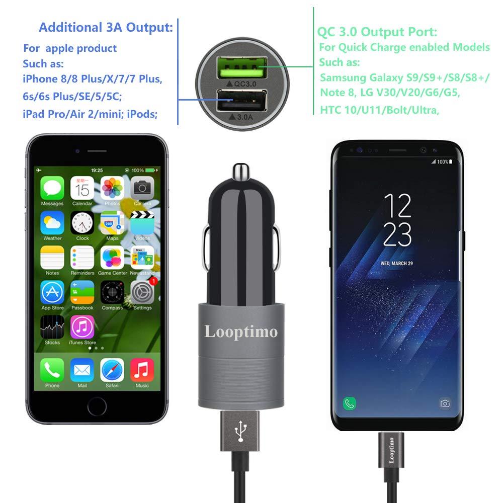 Amazon.com: Adaptador de cargador de coche rápido USB C ...