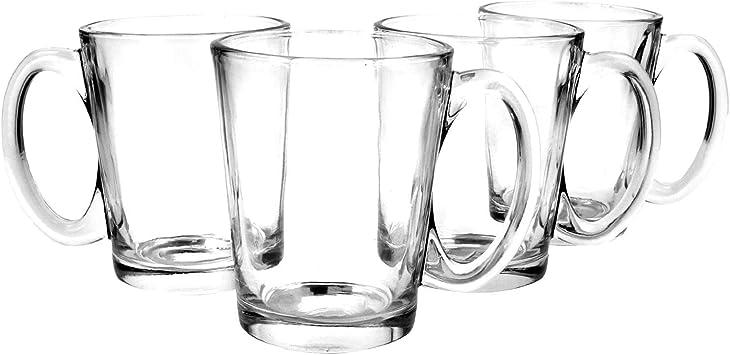 6 Kaffeegläser Teegläser mit Henkel und 6 Edelstahl-Löffel GRATIS Saftgläser