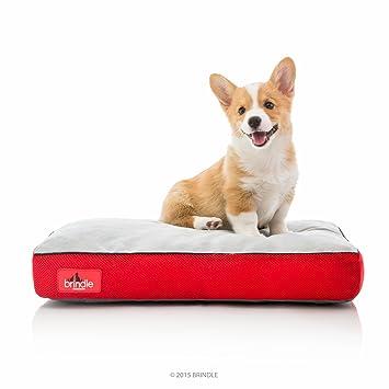 Brindle Cama de Perro de Espuma de Memoria Suave con Cubierta Desprendible Lavable Red 22in x